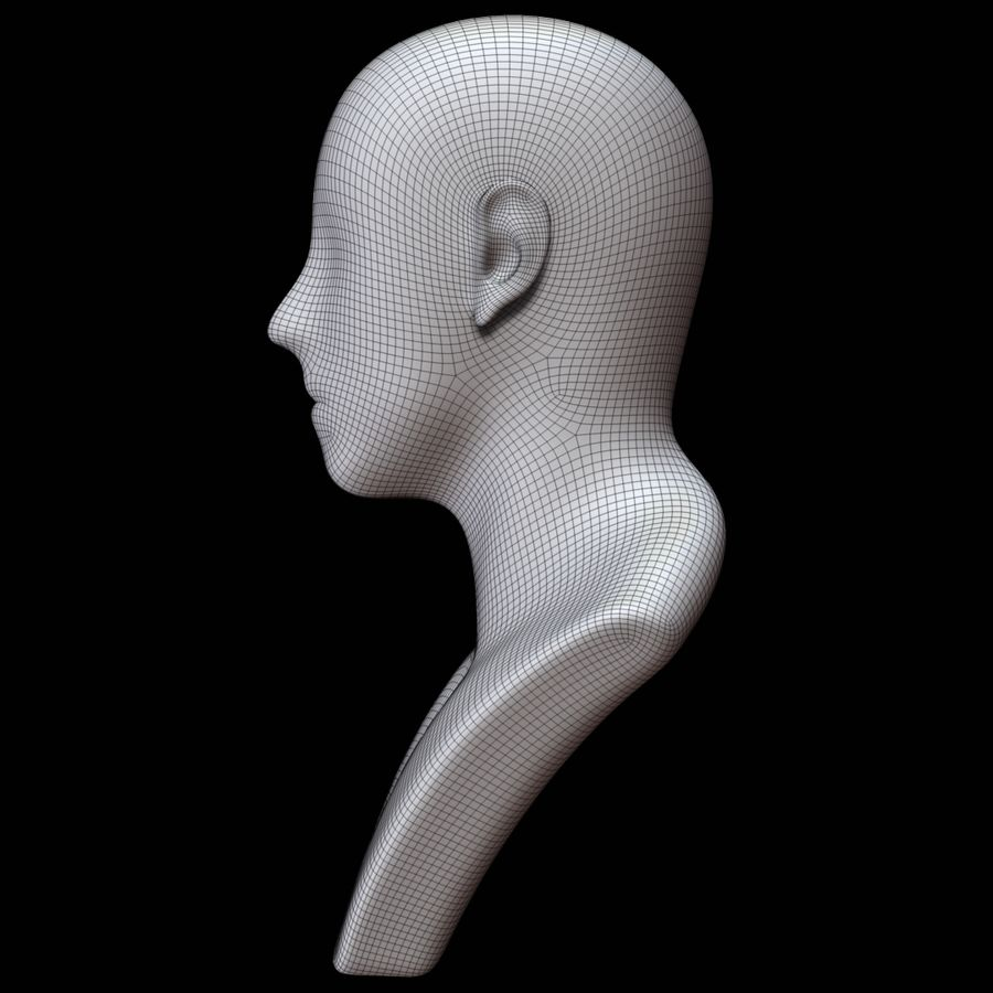 Mannequin head royalty-free 3d model - Preview no. 17