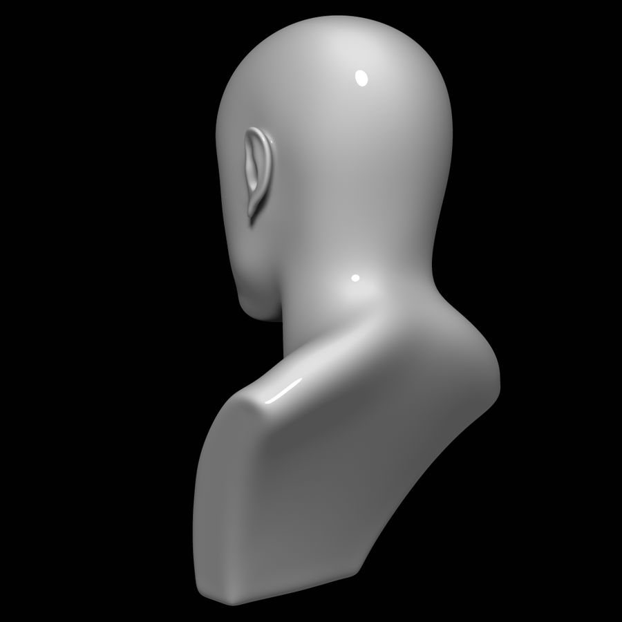 Mannequin head royalty-free 3d model - Preview no. 6