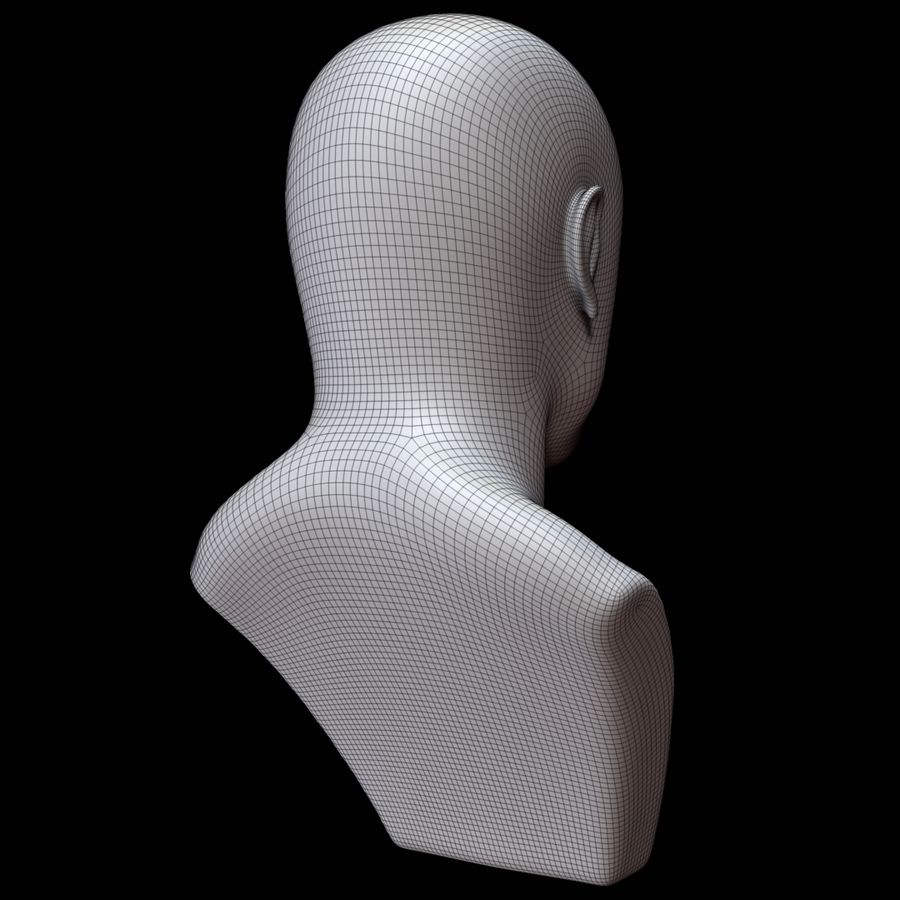 Mannequin head royalty-free 3d model - Preview no. 14