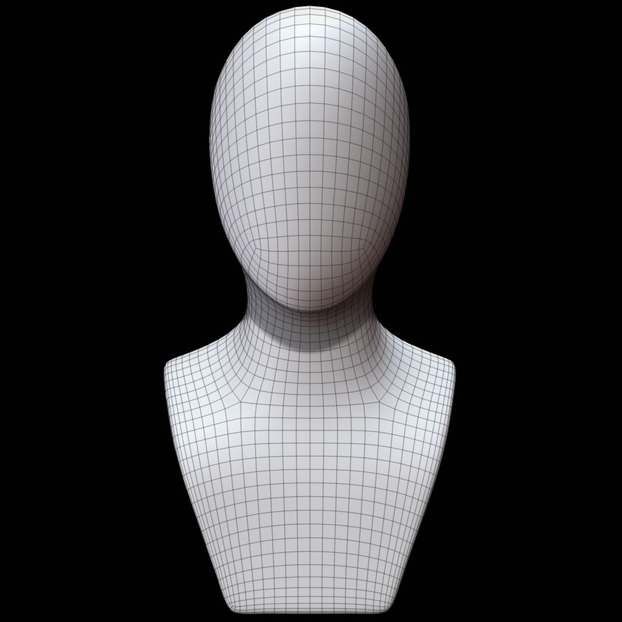 Mannequin head royalty-free 3d model - Preview no. 11