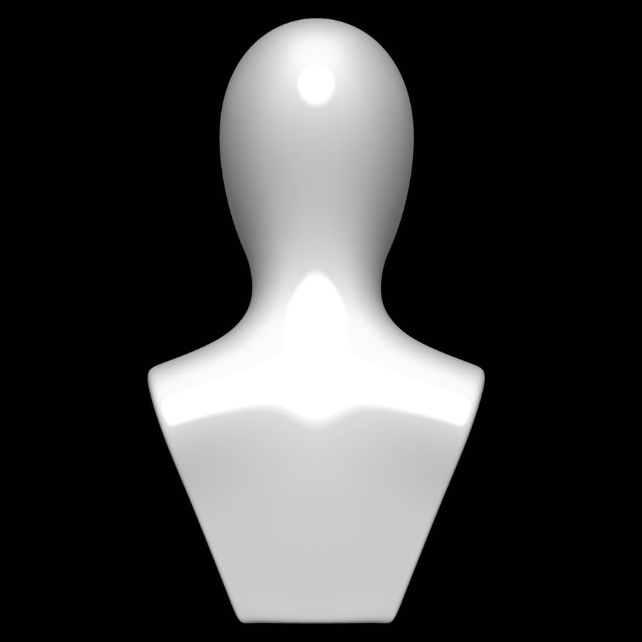 Mannequin head royalty-free 3d model - Preview no. 5