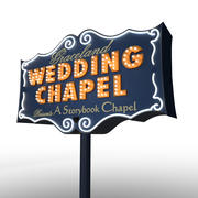 Graceland Chapel Sign 3d model