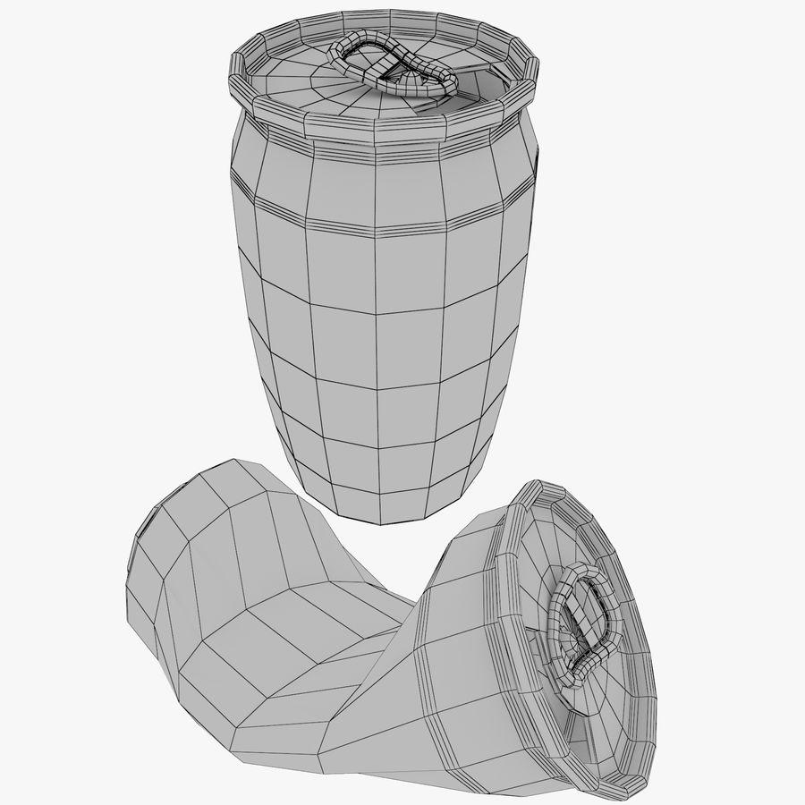 Aluminum Soda Cans Set royalty-free 3d model - Preview no. 1