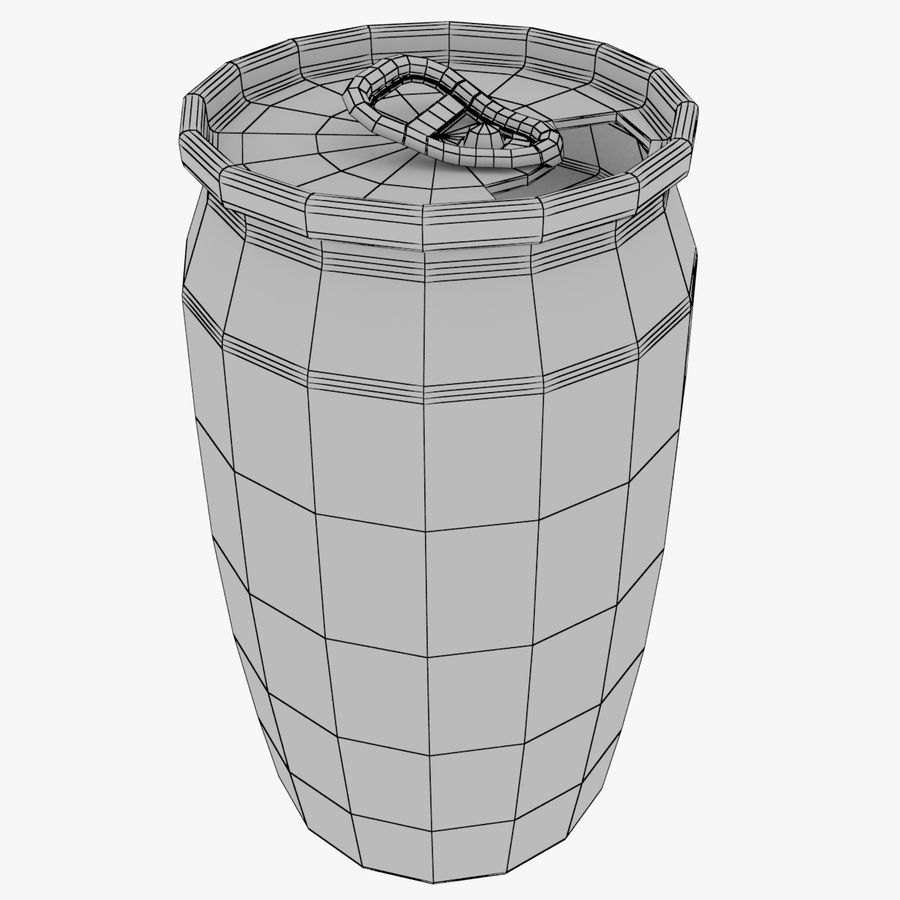 Aluminum Soda Cans Set royalty-free 3d model - Preview no. 2