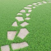 gräs och stenar 3d model