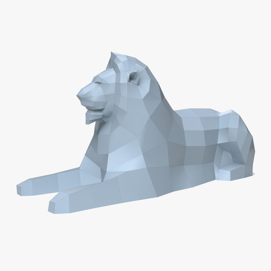 Lion Papercraft royalty-free 3d model - Preview no. 1