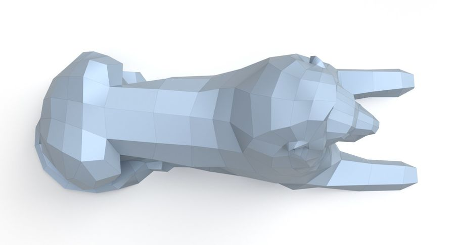 Lion Papercraft royalty-free 3d model - Preview no. 7