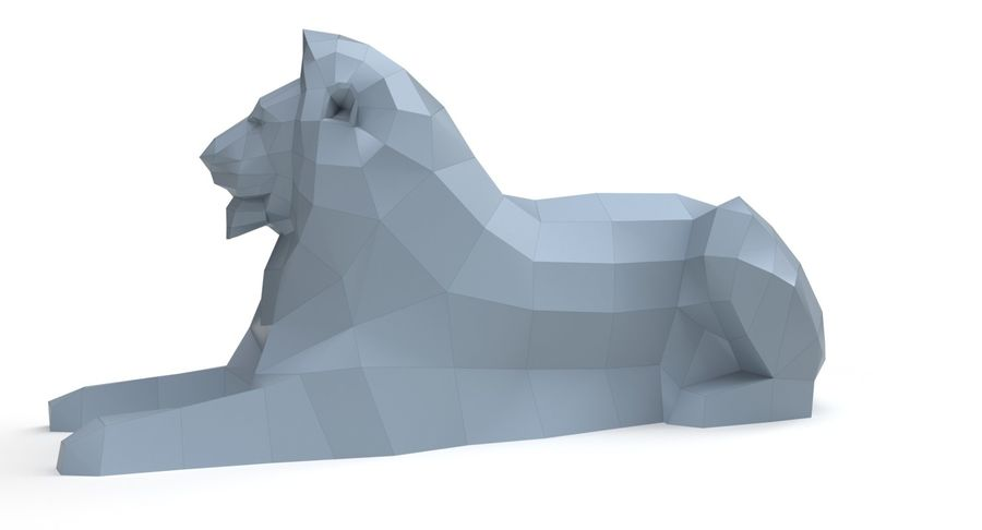 Lion Papercraft royalty-free 3d model - Preview no. 5