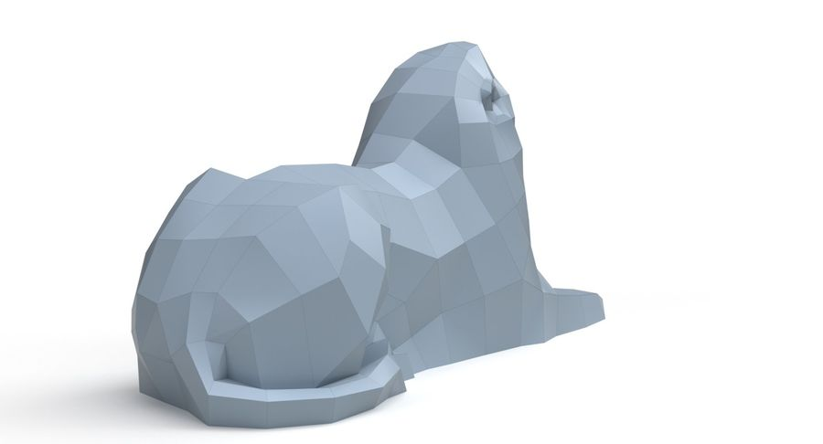Lion Papercraft royalty-free 3d model - Preview no. 6