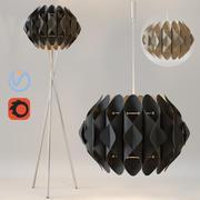 Żyrandol i lampa stojąca AZZARDO RUBEN 3d model