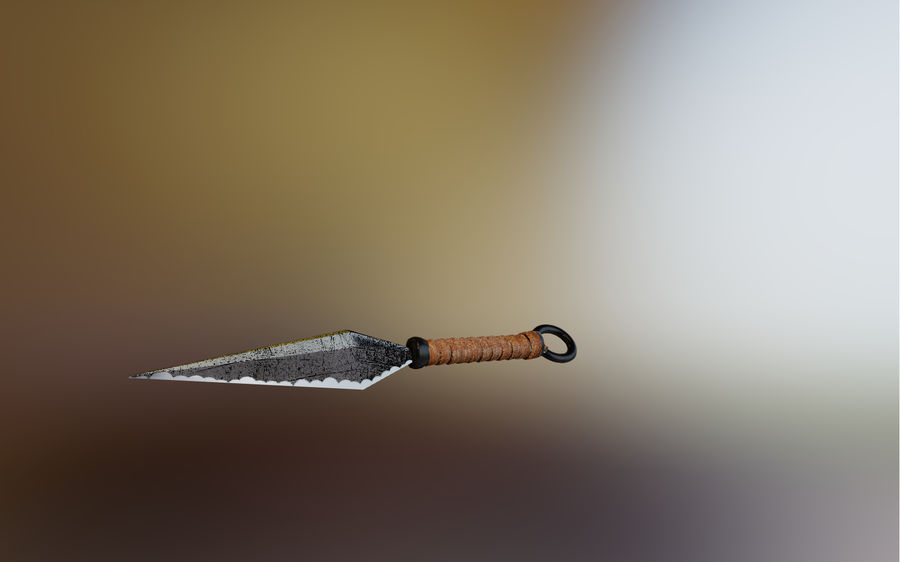 Kunai alt royalty-free 3d model - Preview no. 2