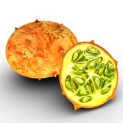 Exotic fruit ( Kiwano ) 3d model