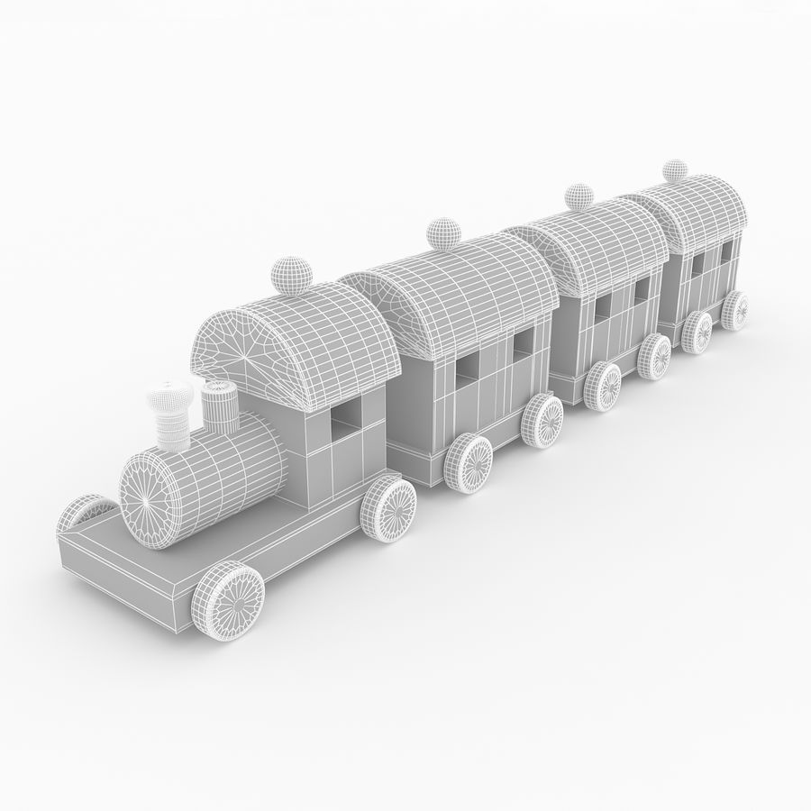 おもちゃの列車 royalty-free 3d model - Preview no. 8