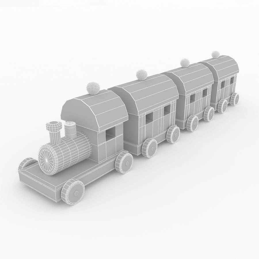 おもちゃの列車 royalty-free 3d model - Preview no. 9