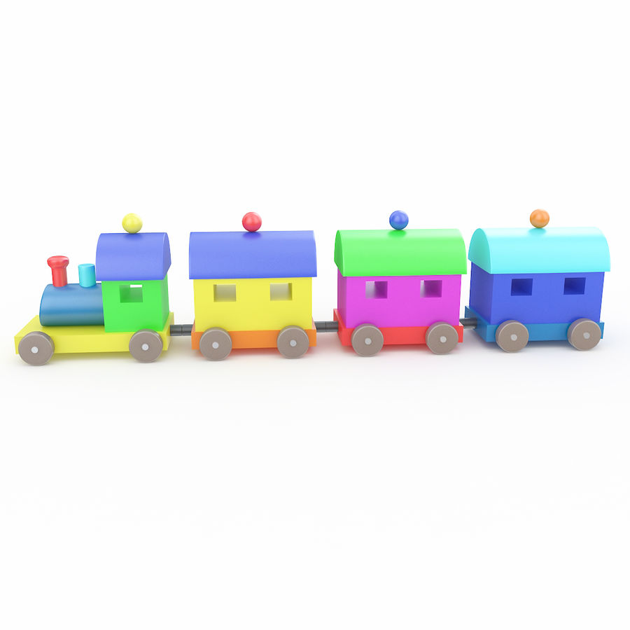 おもちゃの列車 royalty-free 3d model - Preview no. 6