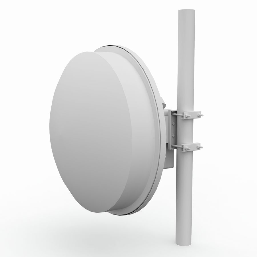 Wireless Antenna 60cm royalty-free 3d model - Preview no. 6