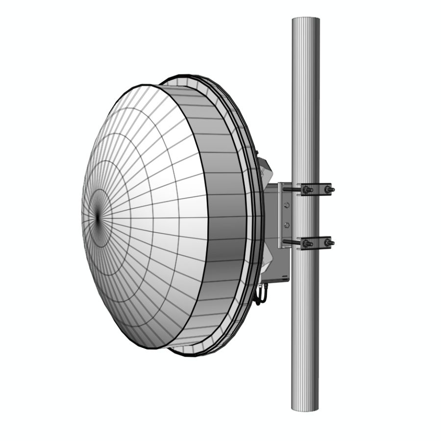 Wireless Antenna 60cm royalty-free 3d model - Preview no. 8