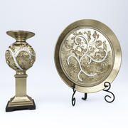 Alana Candle Holder and Plate 3d model