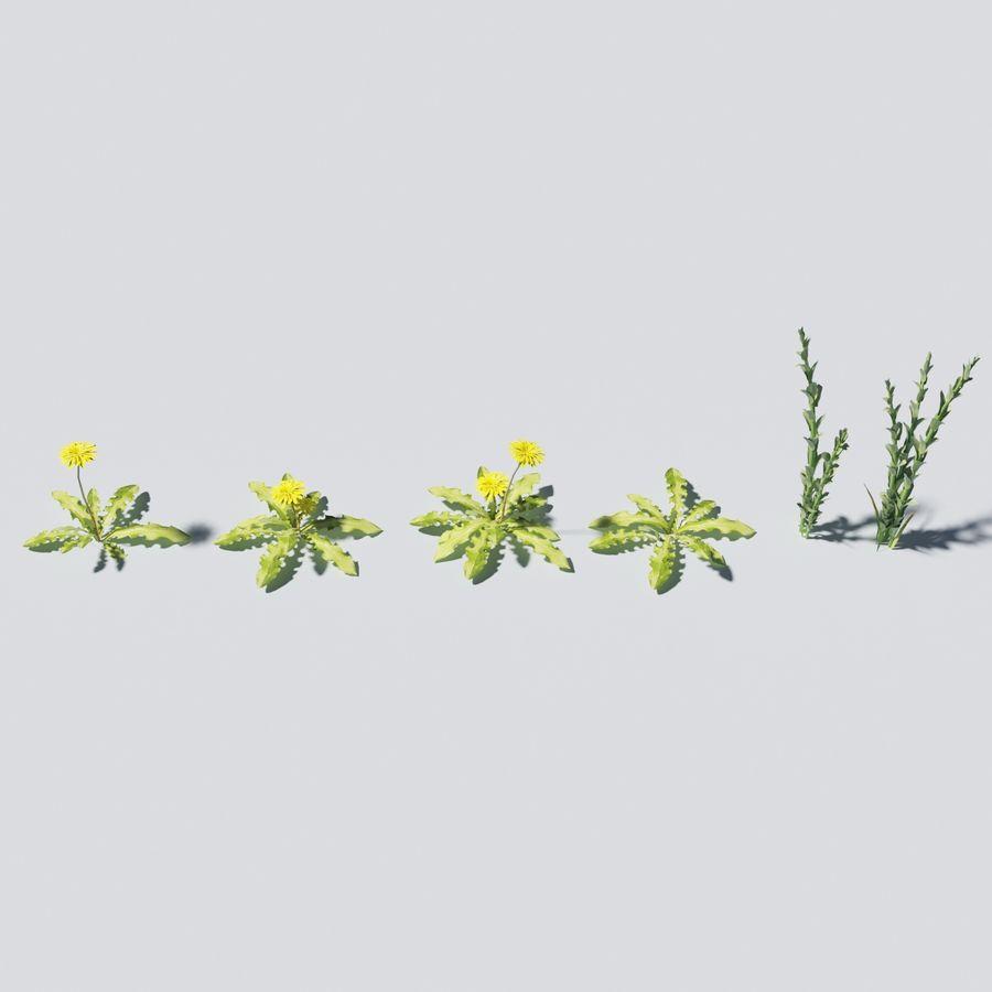 Herbe avec des plantes royalty-free 3d model - Preview no. 5