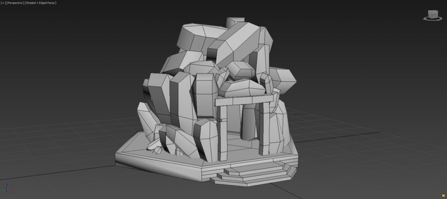 diamond cave royalty-free 3d model - Preview no. 6