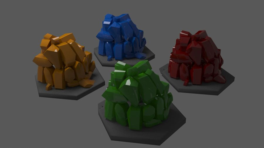diamond cave royalty-free 3d model - Preview no. 4