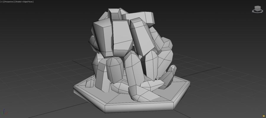 diamond cave royalty-free 3d model - Preview no. 9