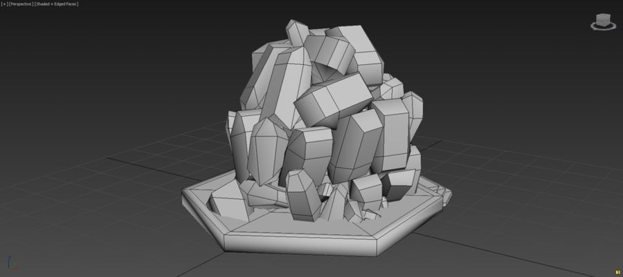 diamond cave royalty-free 3d model - Preview no. 8