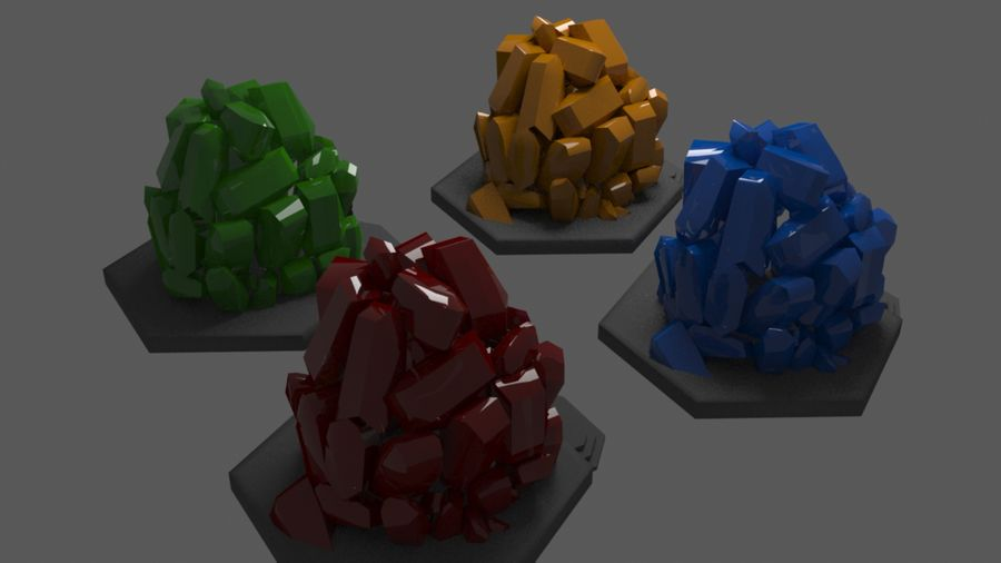 diamond cave royalty-free 3d model - Preview no. 3