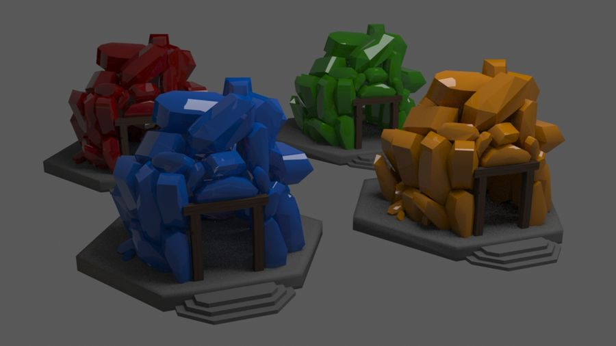 diamond cave royalty-free 3d model - Preview no. 1