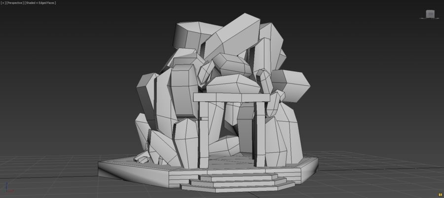 diamond cave royalty-free 3d model - Preview no. 10