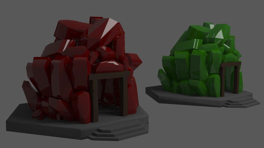 diamond cave royalty-free 3d model - Preview no. 5