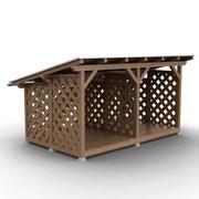 Brandhout opslag 3d model