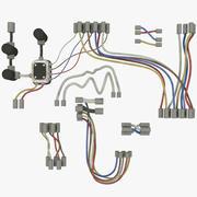 Conjunto de fios V2 3d model