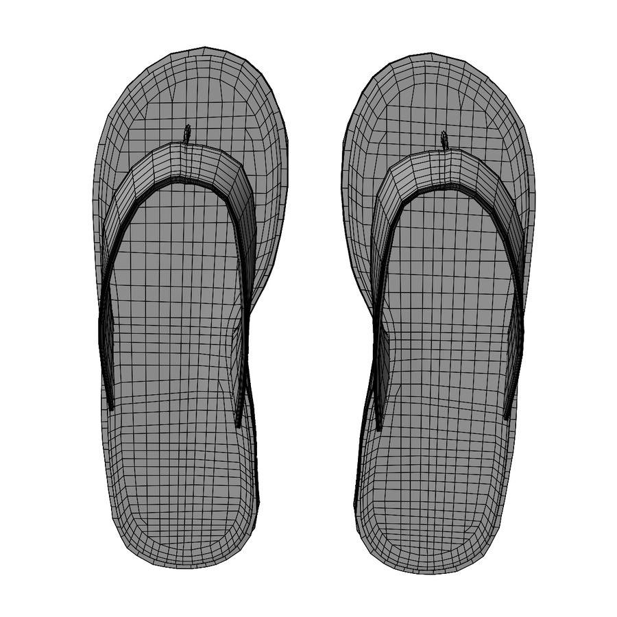 Flip-Flops royalty-free 3d model - Preview no. 20