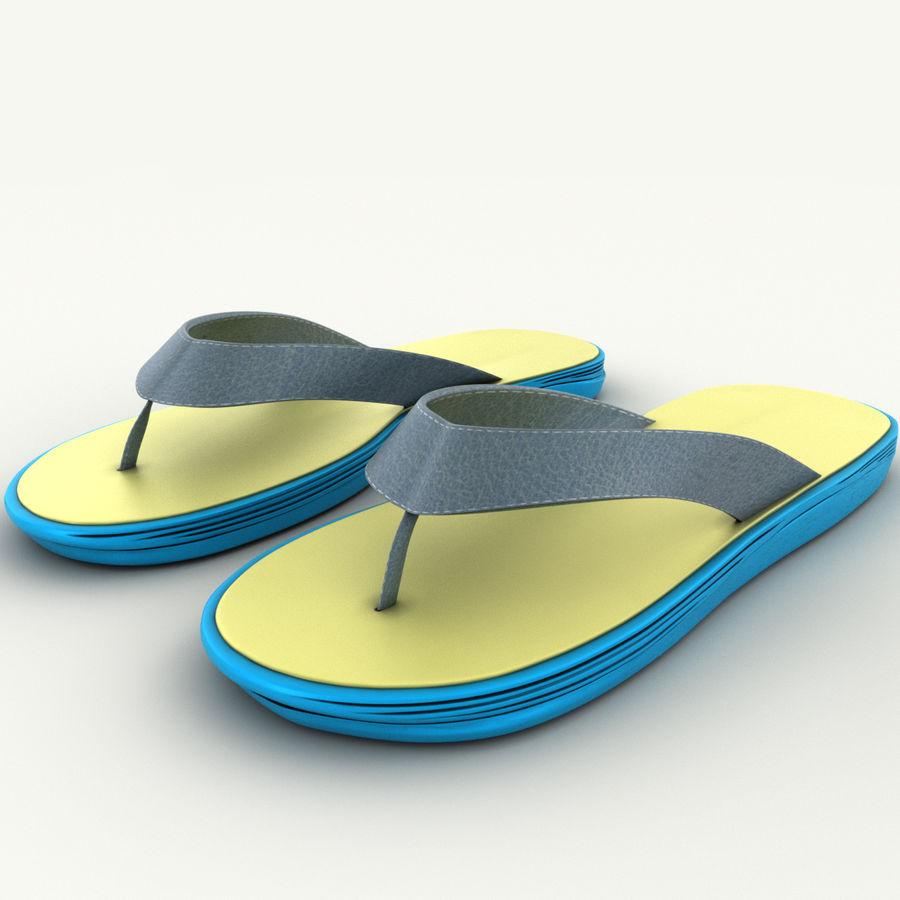 Flip-Flops royalty-free 3d model - Preview no. 3