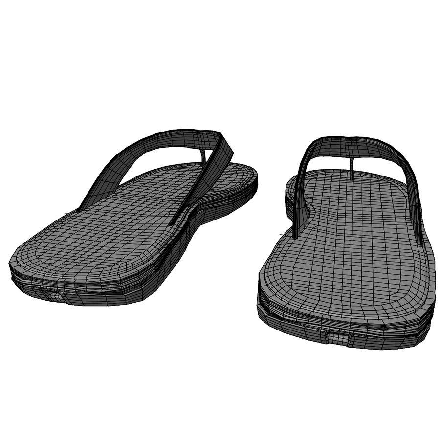 Flip-Flops royalty-free 3d model - Preview no. 16