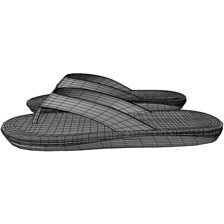 Flip-Flops royalty-free 3d model - Preview no. 14