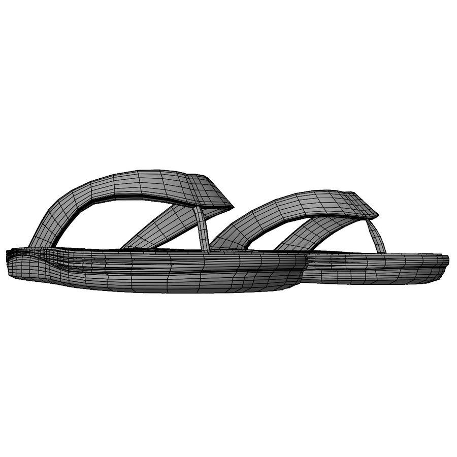 Flip-Flops royalty-free 3d model - Preview no. 19