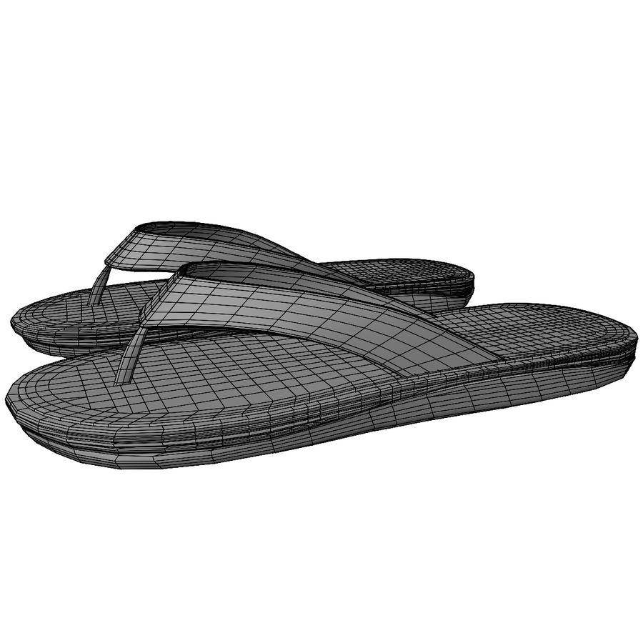 Flip-Flops royalty-free 3d model - Preview no. 13