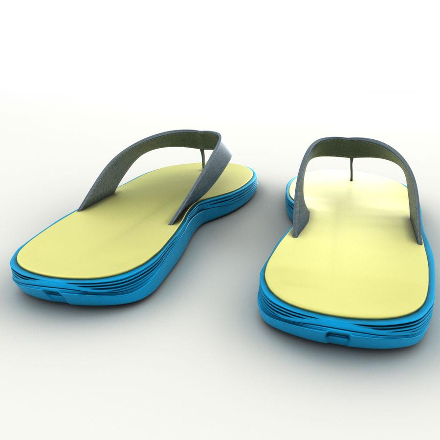 Flip-Flops royalty-free 3d model - Preview no. 7