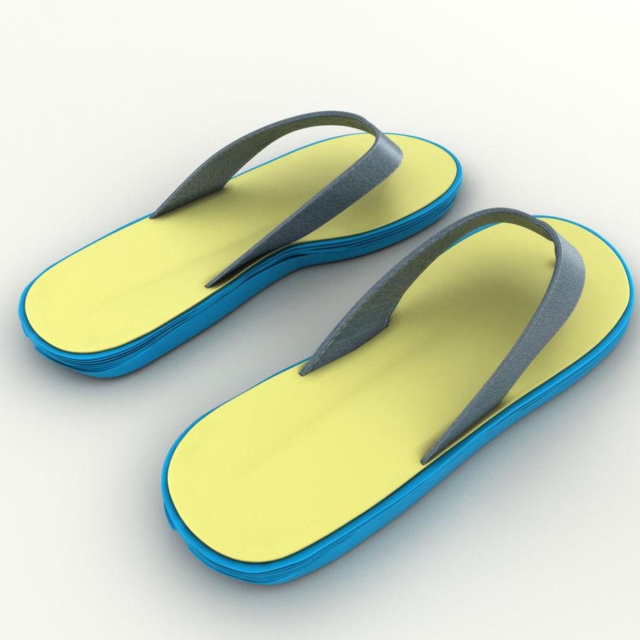 Flip-Flops royalty-free 3d model - Preview no. 8