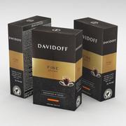 Кофейная Коробка Davidoff Fine Аромат Молотый 250г 3d model