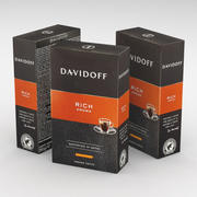 Boîte à café Davidoff Rich Aroma Ground 250g 3d model