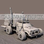 Post Apocalyptic Caravan Truck 3d model