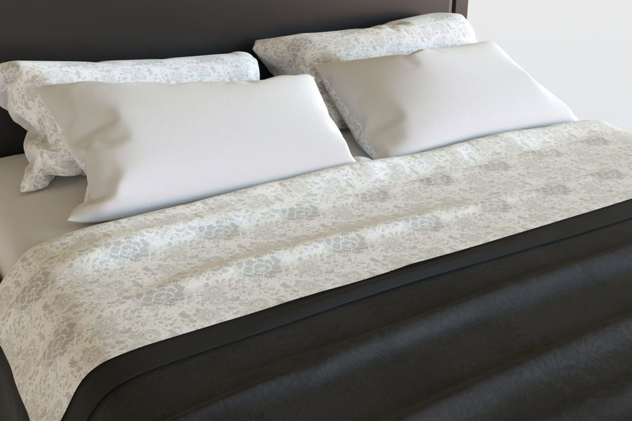Bed_04 royalty-free 3d model - Preview no. 4