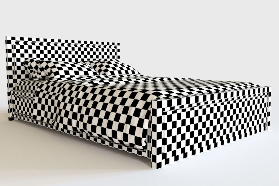 Bed_04 royalty-free 3d model - Preview no. 6