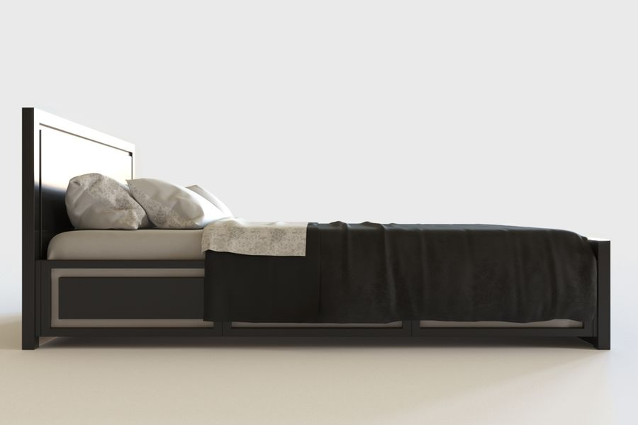 Bed_04 royalty-free 3d model - Preview no. 3