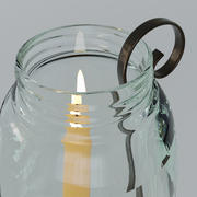 Candle in glass 3d model