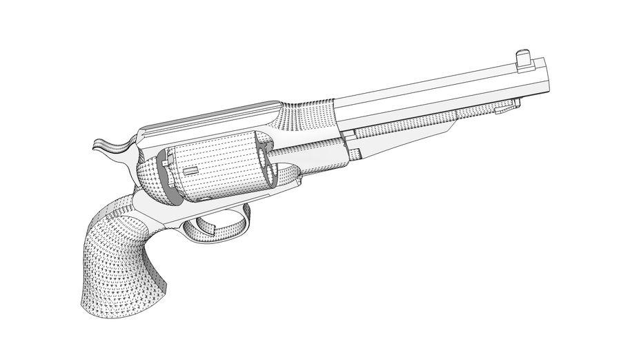 Gun Revolver Pistol royalty-free 3d model - Preview no. 12