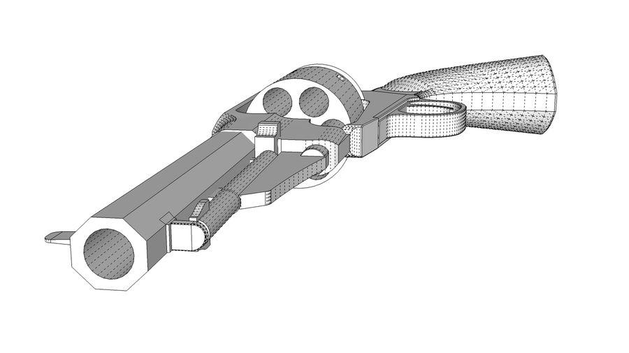 Gun Revolver Pistol royalty-free 3d model - Preview no. 13